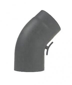 Ofenrohr / Rauchrohr Bogenknie gezogen 45° Ø150mm Senoth. grau mit Tür Bild 2