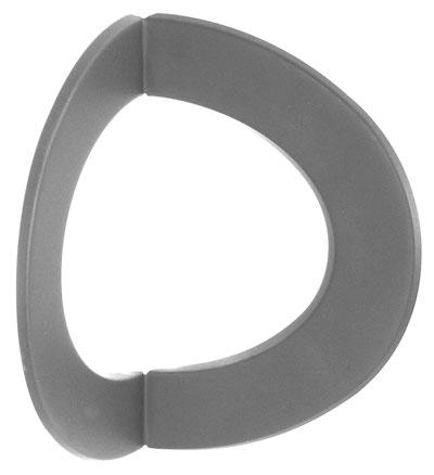 Ofenrohr / Rauchrohr Rosette 90° gewinkelt Innen-Eck Ø 150 mm grau Bild 1