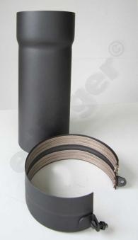 Ofenrohr / Rauchrohr Senotherm grau Ø150mm Länge 330mm einschiebbar Bild 2