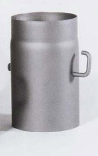 Ofenrohr Senotherm gussgrau mit Drosselklappe Ø 150 mm Länge 250 mm Bild 2