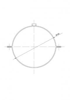 Rohrschellen Set Ø150mm Senotherm grau für Ofenrohre Bild 2