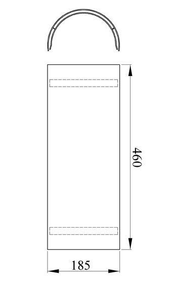 Hitzeschutz-Rohrblende schwarz 46cm Bild 1