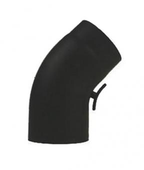 Ofenrohr / Rauchrohr Bogenknie gezogen 45° Ø150mm Senoth. schwarz m.T. Bild 2
