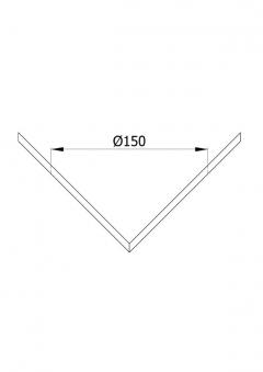 Ofenrohr / Rauchrohr Rosette 90° gewinkelt Außen-Eck Ø 150 mm schwarz Bild 2