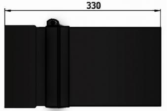 Ofenrohr / Rauchrohr Senotherm schwarz Ø150mm Länge 330mm einschiebbar Bild 3