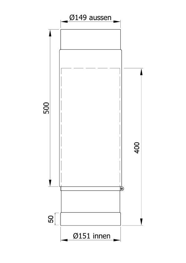 Ofenrohr / Rauchrohr Senotherm schwarz Ø150mm Länge teleskopierbar Bild 1