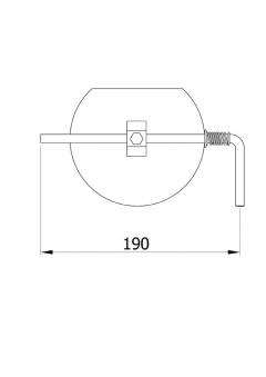 Drosselklappe stahlblank 160 mm Bild 1