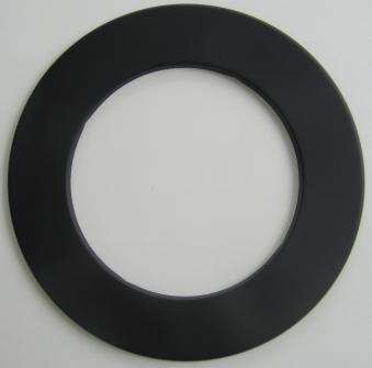 Ofenrohr / Rauchrohr Rosette schwarz Ø160mm Bild 1