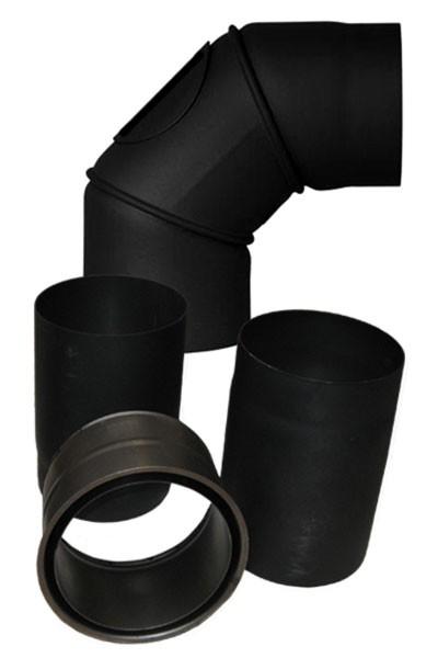 Ofenrohr / Rauchrohr Set Ø 160 mm schwarz Bild 1