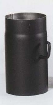 Ofenrohr / Rauchrohr Stahlblech schwarz Ø160mm 250mm mit Drosselklappe Bild 2
