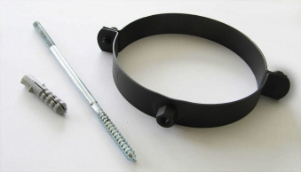 Rohrschellen Set Ø160mm Senotherm schwarz für Ofenrohre Bild 1