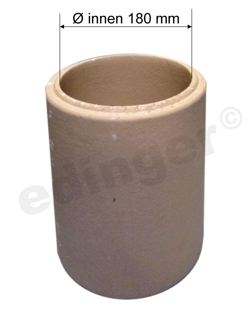 Schamotterohr Ø180mm für Ofenrohr Ø160mm Bild 1