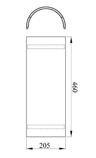 Hitzeschutz - Rohrblende Senotherm schwarz Ø180mm Bild 1