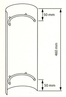 Hitzeschutz - Rohrblende Senotherm schwarz Ø180mm Bild 2