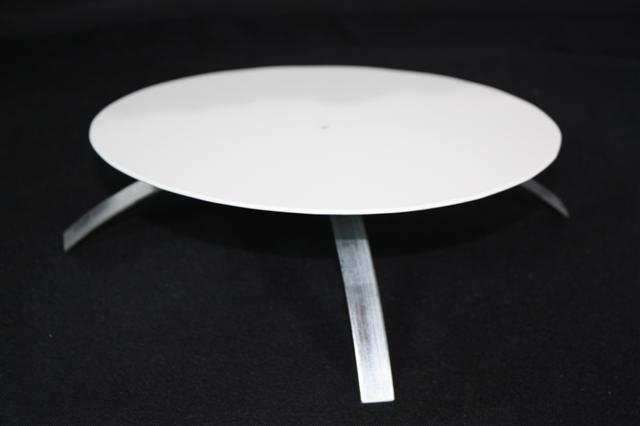 Kaminlochdeckel weiß beschichtet mit Isolierung 160mm bis 180mm Bild 1
