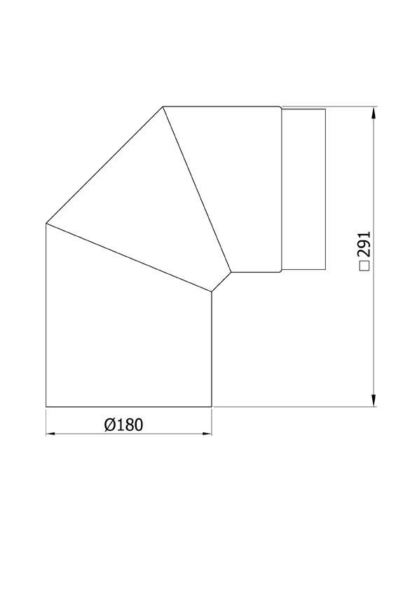 Ofenrohr / Rauchrohr Bogenknie 90° Ø180mm Senotherm schwarz ohne Tür Bild 1