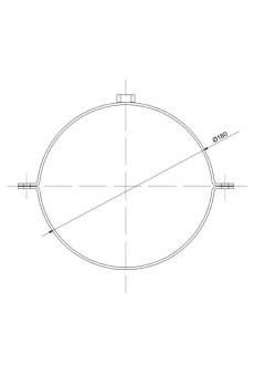 Rohrschellen Set Ø180mm Senotherm schwarz für Ofenrohre Bild 2