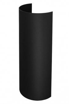 hitzeschutz rohrblende senotherm schwarz f r ofenrohre mit 180 mm bei. Black Bedroom Furniture Sets. Home Design Ideas