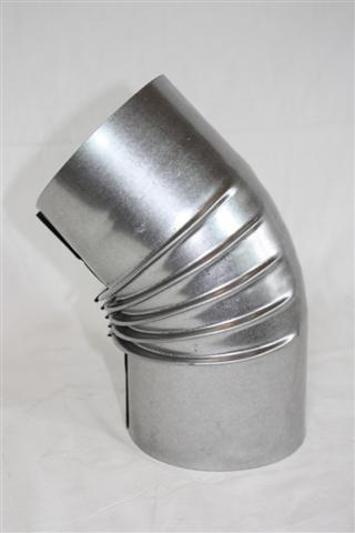Ofenrohr / Rauchrohr FAL Bogenknie 45° Ø80mm ohne Tür Bild 1