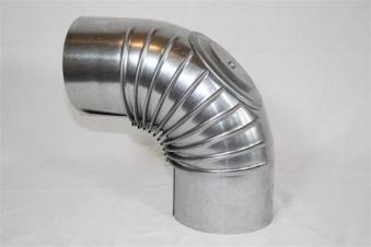 Ofenrohr / Rauchrohr FAL Bogenknie 90° Ø80mm mit Tür Bild 1