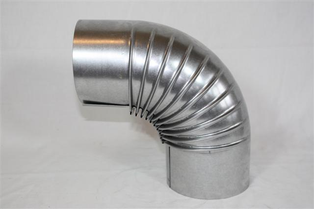Ofenrohr / Rauchrohr FAL Bogenknie 90° Ø80mm ohne Tür Bild 1