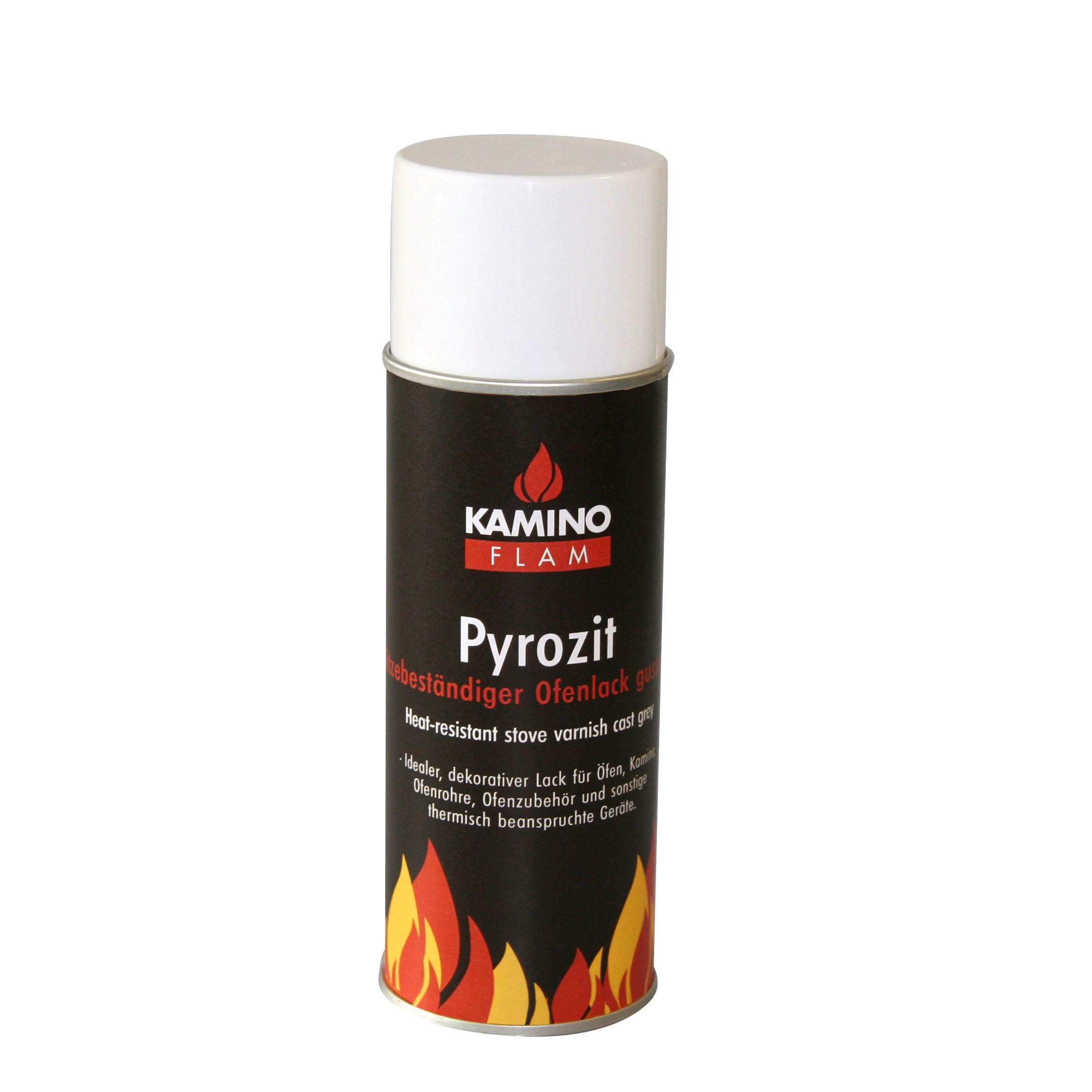 Ofenlack Spray KaminoFlam Pyrozit gussgrau 300ml Bild 1