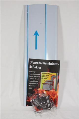 Wandschutzreflektor Alu Länge 650mm für Ø80mm bis 130mm Bild 1