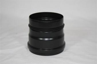 Ofenanschlussstück Ø80mm schwarz Bild 1