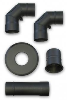 Ofenrohr / Rauchrohr Anschlussset für Pelletofen Ø 80mm PO56/PO57/PO59 Bild 1