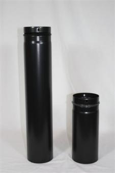 Ofenrohr / Rauchrohr für Pelletofen Ø80mm Länge 1000mm Bild 1