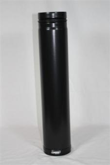 Ofenrohr / Rauchrohr für Pelletofen Ø80mm Länge 750mm verstellbar Bild 1