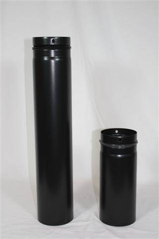 Ofenrohr / Rauchrohr für Pelletofen Ø80mm Länge 750mm Bild 1