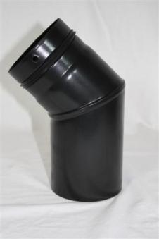 Ofenrohr / Rauchrohr für Pelletofen Bogen 45° Ø80mm ohne Tür Bild 1