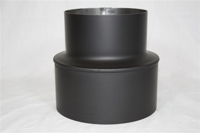 Ofenrohr Reduzierung 130weit auf 180eng schwarz Bild 2