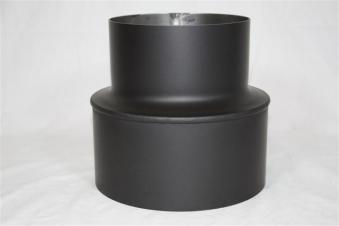 ofenrohr reduzierung 130weit auf 180eng schwarz bei. Black Bedroom Furniture Sets. Home Design Ideas