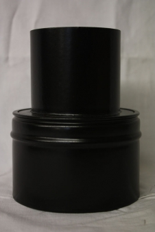 Ofenrohr für Pelletofen Reduzierung 100weit auf 120eng schwarz matt Bild 1