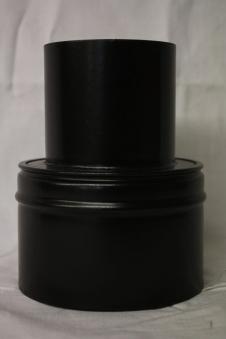 Ofenrohr für Pelletofen Reduzierung 100weit auf 130eng schwarz matt Bild 1