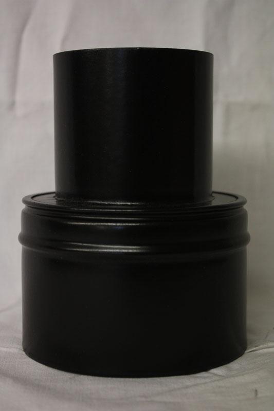 Ofenrohr für Pelletofen Reduzierung 80weit auf 130eng schwarz matt Bild 1