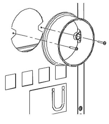 Anschlußstutzen La Nordica für externe Verbrennungsluftzufuhr Ø 150 mm Bild 1