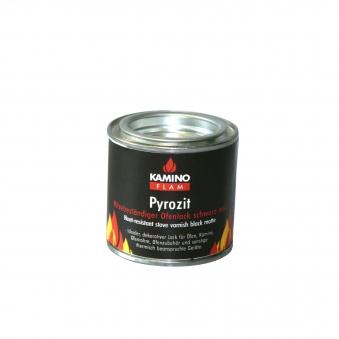 Ofenlack Pyrozit KaminoFlam schwarz matt 100 ml Bild 1