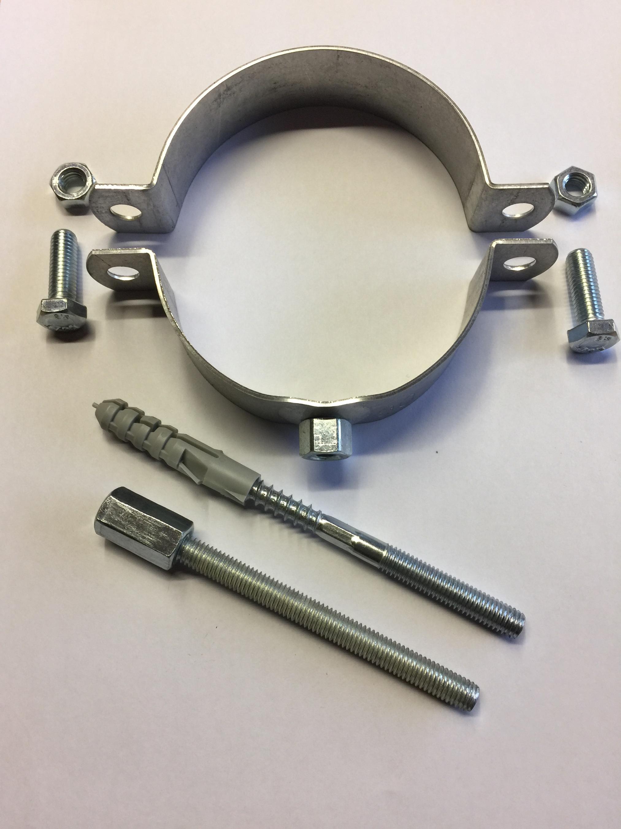 Rohrschelle FAL Ø 120 mit Gewindestift & Stockschraube Bild 1