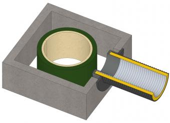 Anschlussstutzen für externe Luftzufuhr Ø 60 mm verzinkt LAS Ringspalt Bild 3