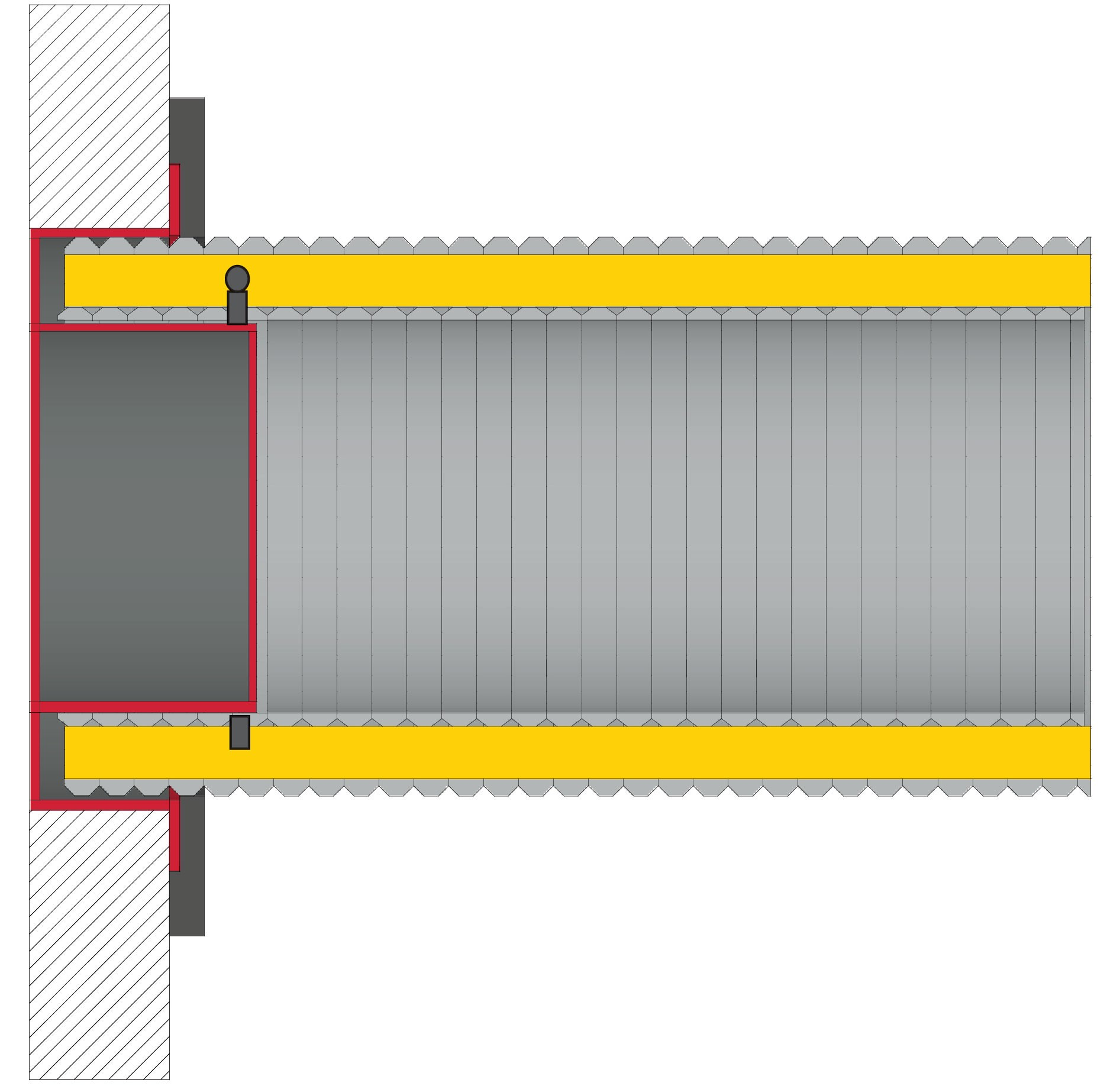 Anschlussstutzen für externe Luftzufuhr Ø 80 mm verzinkt LAS Ringspalt Bild 2