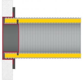 Anschlussstutzen für externe Luftzufuhr Ø100mm verzinkt LAS Ringspalt Bild 2