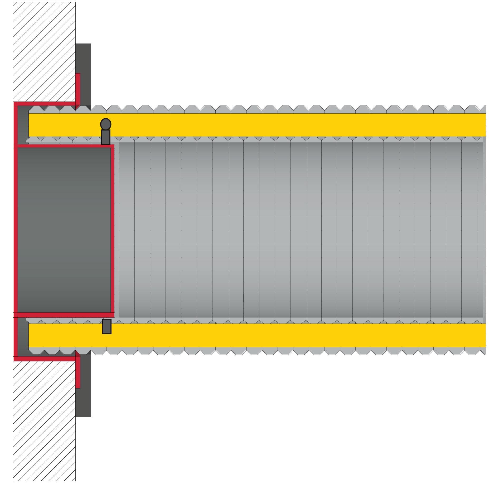 Anschlussstutzen für externe Luftzufuhr Ø125mm verzinkt LAS Ringspalt Bild 2