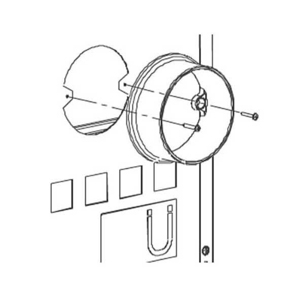 anschlussstutzen f r externe luftzufuhr bartz kaminofen gstaad grau bei. Black Bedroom Furniture Sets. Home Design Ideas