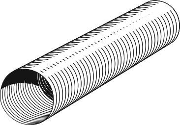 Flexibles Lüftungsrohr aus Aluminium Ø 125 mm Bild 1