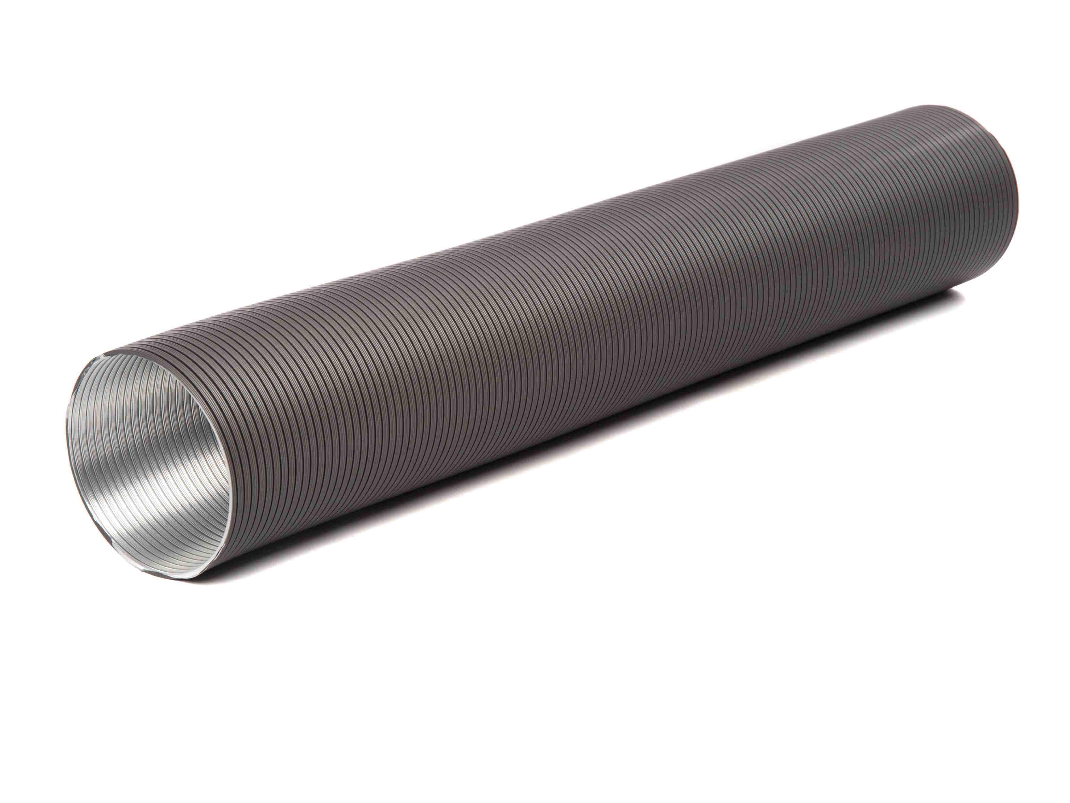 Flexibles Lüftungsrohr aus Aluminium Ø100mm grau Bild 1