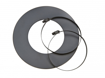Rosette für flexibles Lüftungsrohr Ø125mm grau