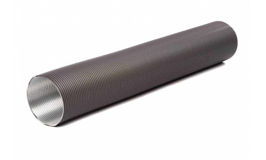 Flexibles Lüftungsrohr aus Aluminium Ø50mm grau Bild 1